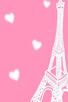 Eiffel tower pink background