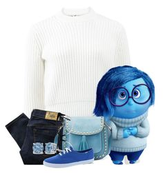 """""""sadness from inside out"""" by kittykatmuniza ❤ liked on Polyvore featuring T By Alexander Wang, Diesel, Yoki, Ace and Keds"""