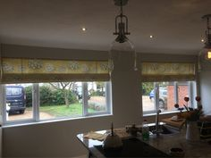 This fabric from PT has always been one of my favourites. The Yellow & Grey version looks amazing in this Kitchen