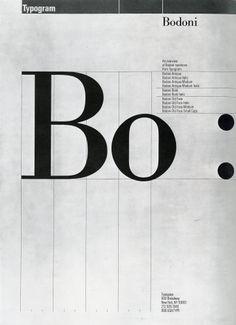 Typogram Bodoni