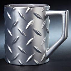 Every construction worker needs his own 'diamond plate' mug. $18.95