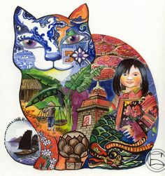 """Chat touriste vietnamien"" par Oxana Zaika"