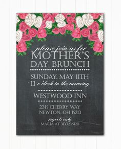 Mother's Day Brunch or Event Flyer or by MarieCoutureDesigns