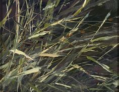 Nancy Halter, Wild Grasses 2014, oil