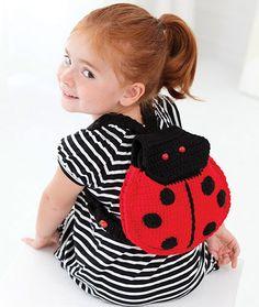Lady Bug Backpack Free Crochet Pattern LW2877