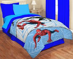 Marvel Spiderman Quilt - Twin and Full Bed Comforter