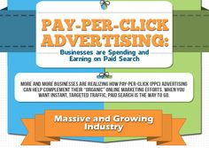 """Pay-Per-Click Advertising:  Businesses are Spending and Earning on Paid Search.  More and more businesses are realizing how Pay-Per-Click (PPC) can help complement their """"organic"""" online marketing efforts want instant, targeted traffic, paid search is the way to go. Advertising Methods, Online Advertising, Advertising Agency, Pay Per Click Marketing, Pay Per Click Advertising, Internet Marketing, Online Marketing, Digital Marketing, Salesforce Developer"""