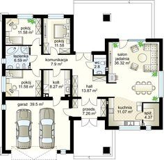 This amazing photo is honestly an outstanding design principle. Best House Plans, Dream House Plans, Modern House Plans, House Floor Plans, Bungalow Haus Design, One Storey House, House Plans Mansion, Apartment Floor Plans, Cottage Plan
