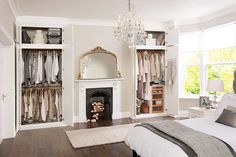 wardrobe fitted around chimney breast - Google Search