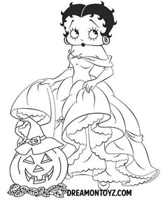 Free Printable Betty Boop Coloring Pages For Kids | 288x236
