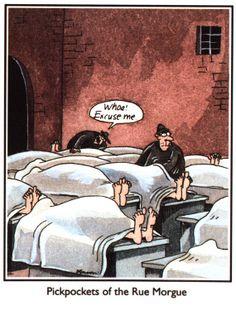 Halloween morgue humor