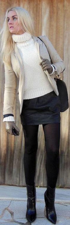 #Black #Leather #Skirt