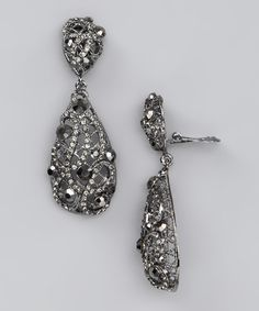 Take a look at this Oh La La Jewelry Gunmetal Mirrored Clip-On Earrings by New Year's Eve: Accessories on #zulily today!