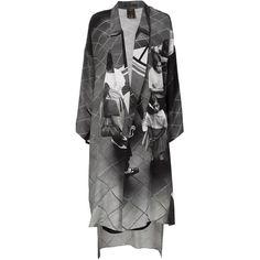 Juan Carlos Obando graphic print kaftan ($2,580) ❤ liked on Polyvore featuring tops, tunics, black, kaftan tunic, caftan tunic, black kaftan, graphic tunic y silk kaftan