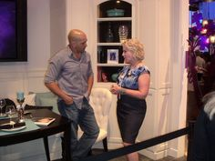 Barbara Segal with Ed Sanders from Extreme Home Makeovers
