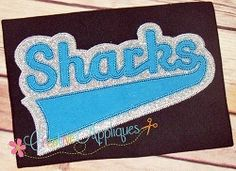 Sharks Double Vintage Stitch Applique - 6 Sizes! | Sport Teams | Machine Embroidery Designs | SWAKembroidery.com Creative Appliques