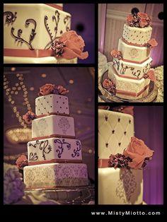 Walt Disney World Wedding: Jenna + Alex  - Disney wedding cake