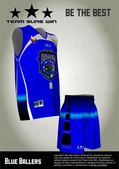 Client: Century Properties Team: Blue Ballers Fabric: Cool Tech Print: Full bleed sublimation  Location: Makati City, Metro Manila, Philippines  Design: + Exclusive custom made texture inspired by the Man of Steel costume + Sports mesh texture on the numbers + Gradient colors  The result is awesome.  Get your Team Sure Win uniform now! In the Philippines, call us at  (02)8710457 09175468063 09186596276  or email us at support@teamsurewin.com