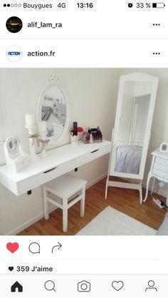 Small Room Bedroom, Room Decor Bedroom, Minimalist Closet, Vanity Room, Home Organisation, Beauty Room, Bedroom Storage, Bathroom Inspiration, Decor Interior Design