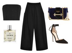 """Untitled #22406"" by florencia95 ❤ liked on Polyvore featuring Miller Harris, Tome, Thierry Mugler, Prada and Gianvito Rossi"