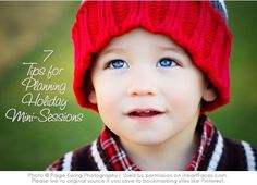 7 Tips for Successful Holiday Mini Sessions {Photography Tips from iHeartFaces.com}