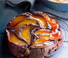 Gâteau renversé chocolat poire