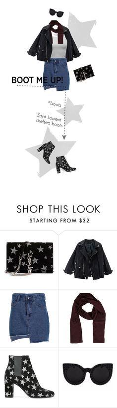 """allstars"" by francesca-belotti ❤ liked on Polyvore featuring Yves Saint Laurent, Dolce&Gabbana, Delalle, saintlaurent, chelseaboots and chelseaboot"
