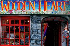 the Wooden Heart toy shop. Quay Street, Galway city ... Co. Galway, Ireland.