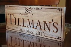 Personalized Family Sign Carved Wooden by BenchMarkCustomSigns, $39.95