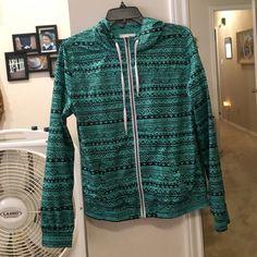 Teal Aztec windbreaker NWOT Zine Jackets & Coats