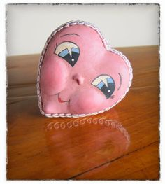 OOAK Sweet Pink Heart Valentine Trinket Gift Box Love Ready to Ship Heart Shaped Box Ornament Paperclay sculpture