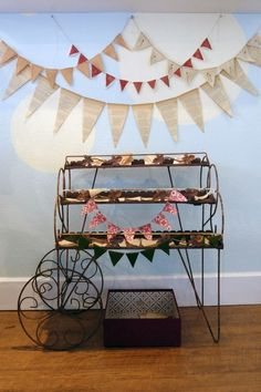 #backdrop  Hang streamers like this and the sign underneath as the long ruffle is displayed here