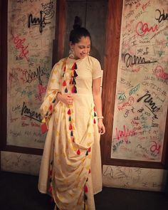Long Indian dress with detailing