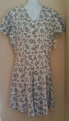New Willow Bay Romper Dress Shorts Lilac Floral Medium #WillowBay #Romper