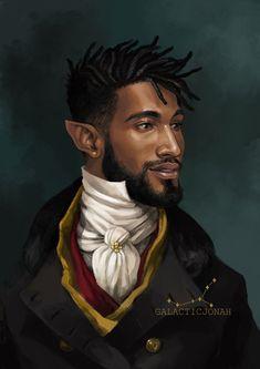 Fantasy Races, Fantasy Rpg, Fantasy Artwork, Fantasy Art Male, Fantasy Portraits, Black Characters, Dnd Characters, Fantasy Characters, Fantasy Character Design