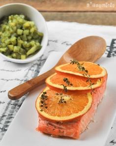 Salmón a la naranja con patatas a las hierbas | L'Exquisit