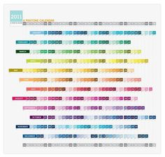 Pantone Calendar, such beautiful colours