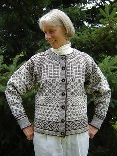 Ravelry: Faroese Sampler Cardigan pattern by Sheryl Hill