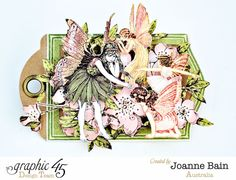 Once Upon a Springtime fairy tag by Joanne Bain #graphic45