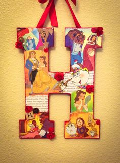 Any Letter in Beauty and the Beast Disney themed por SpikaInteriors