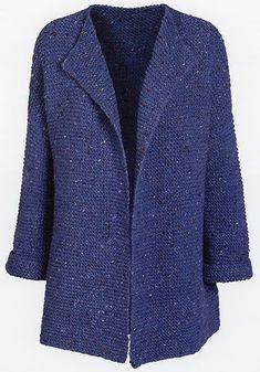 Ravelry: Denim Blue pattern by Susie Haumann pattern Denim Blue pattern by Susie Haumann Blue Cardigan, Cardigan Pattern, Knit Cardigan, Gilet Crochet, Knit Crochet, Loom Knitting, Free Knitting, Ravelry, Sweater Shop