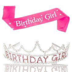 Ella Celebration - Birthday Girl Tiara and Sash - 1
