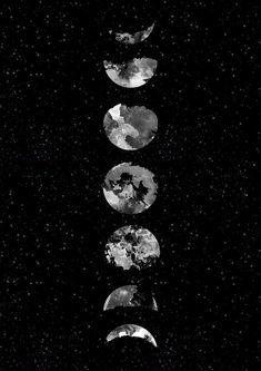 Moon Wallpaper, Flower Phone Wallpaper, Cute Wallpaper Backgrounds, Wallpaper Iphone Cute, Cellphone Wallpaper, Cute Wallpapers, Phone Backgrounds, Moon Phases Art, Moon Art