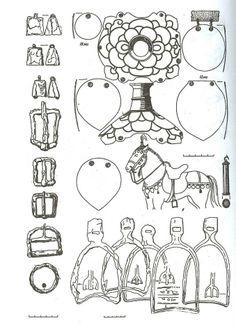 9-10th century Southern Russia. Khazarian horse gear.