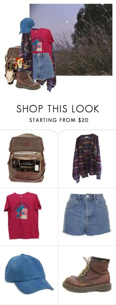 """Happy Here"" by sleepyboy ❤ liked on Polyvore featuring Moore & Giles, Topshop, Lucky Brand and Dr. Martens"