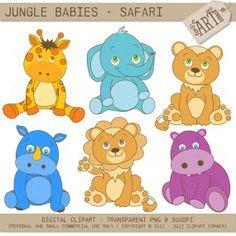Baby Safari Animals Clip Art http://hestervlamings.com/photographipdw/free-jungle-baby-animal-clipart