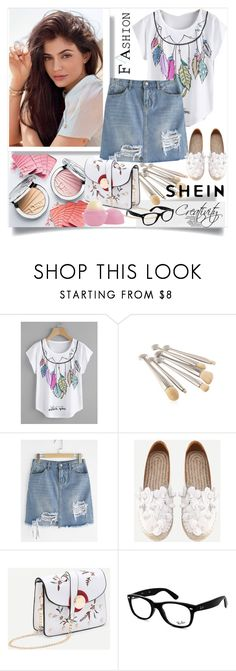 """SHEIN"" by creativity30 ❤ liked on Polyvore featuring Ray-Ban and Eos"