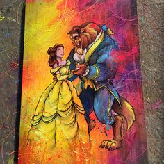 """662 kedvelés, 11 hozzászólás – ShaneGrammerArts (@shanegrammerarts) Instagram-hozzászólása: """"Belle and the beast painting. This is my first Beauty and the Beast painting i did that was donated…"""""""