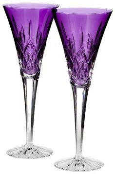 $135.00-$175.00 Waterford Toasting Flutes, Set of 2 Lismore Amethyst - Waterford Lismore Jewels features the brilliance and clarity of the classic Lismore pattern with a dramatic pop of exciting color. Raise a toast whatever the occasion with these Lismore Jewels Amethyst Toasting Flutes, which add colorful flair to sparkling wine, spumante or any celebratory cocktail. Featuring the classic Lism ...