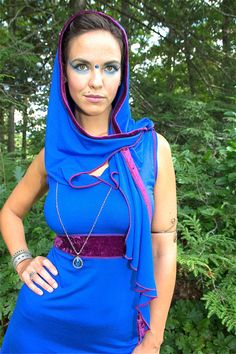 The Eowyn tunic/mini dress captures the essence of elven princess, the blue fairy.  Made to order. Unique hood design - long flowing tendrils - wrap…